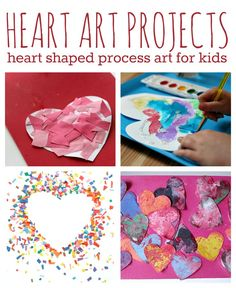 Art projects for kids that focus on process art! Fun Valentine's Day art.