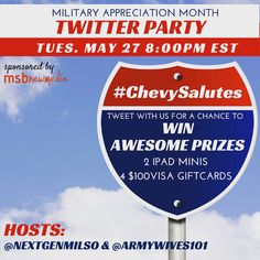#MilSpouses, celebrate #MilitarySpouseAppreciationMonth wit a chat about how you #findnewroads! Fun items to win!