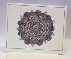 Hand Drawn Southwestern Mandala Greeting by SnowflakeEclecticArt