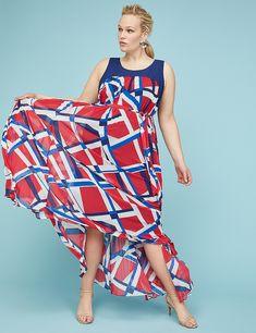 a8872fa94cee Printed Pleated Chiffon Maxi Dress