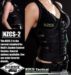 Tactical corset over bust with shoulder straps. Love the buckles up the front!
