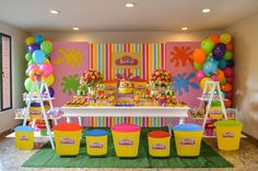 Pin Janice Williams On Chelseas Bday Ideas Crayon throughout Playdoh Birthday Party Ideas - Party Supplies Ideas Bubble Birthday Parties, 5th Birthday Party Ideas, Kids Birthday Themes, 1st Birthday Girls, Birthday Party Decorations, Ideas Party, School Birthday, Kunst Party, Play Doh Party