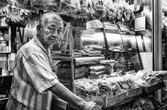 Luca Sartoni, Dry Food Seller (in Singapore) Street Art Photography, Singapore, Painting, Food, Meal, Painting Art, Essen, Paintings, Hoods