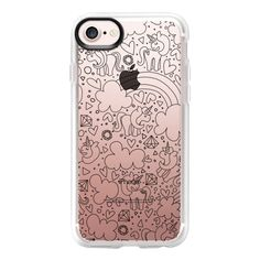 Black Line Unicorns - iPhone 7 Case And Cover (130 BRL) ❤ liked on Polyvore featuring accessories, tech accessories, iphone case, iphone cases, clear iphone case, iphone cover case, unicorn iphone case and apple iphone case