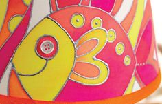 Painted Fish Silk Lampshade