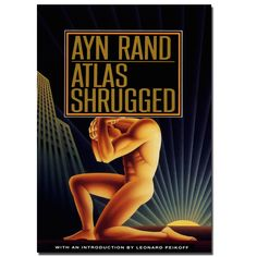 Ayn Rrand Atlas Shrugged Atlas (god) Philosophy Movie Poster Wall Art Decor Canvas Printing For Living Room