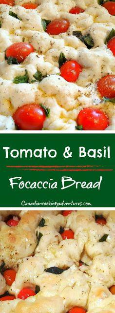 tomato and Basil Focaccia Bread