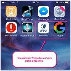 iPhone Webseiten auf dem Home-Screen als Apps Ipad, Iphone, Monitor, Website, Weaving, Tutorials