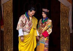 El rey y la reina de Bután