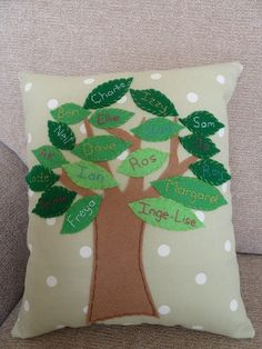 Keepsake family tree cushion - The Supermums Craft Fair