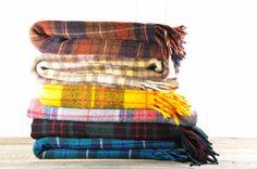 Vintage Plaid Wool Blanket by theweekendshop on Etsy, $52.00