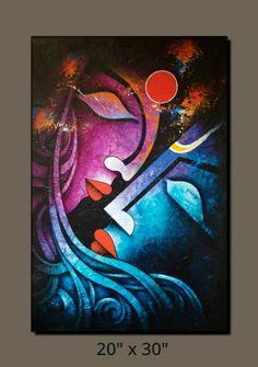 Ganesha Painting, Buddha Painting, African Art Paintings, Modern Art Paintings, Madhubani Art, Madhubani Painting, Diy Canvas Art, Acrylic Painting Canvas, Art Visage
