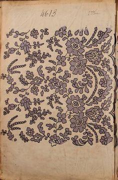 1863 - [French textiles] sample books by the Maison Robert firm, Paris… Motifs Textiles, Vintage Textiles, Textile Patterns, Textile Prints, Textile Design, Fabric Design, Print Design, Print Patterns, Floral Patterns