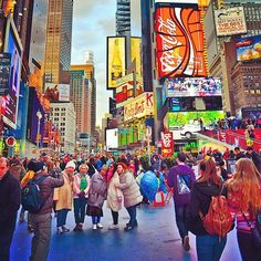 First day of Spring in New York City: Times Square