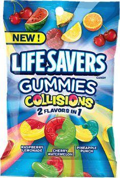 Lifesavers, Gummies, Collisions, Bag (Pack of Pineapple Lemonade, Pineapple Punch, Raspberry Lemonade, Candy Gift Baskets, Candy Gifts, Candy Recipes, Gourmet Recipes, Healthy Recipes, Lifesaver Candy