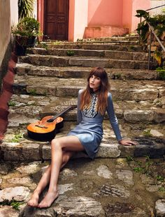 eugenia volodina xavi gordo shoot3 Eugenia Volodina is Gucci Glam for Elle Spain by Xavi Gordo