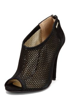 {Perforated Peep Toe Bootie} by CNC and GF FERRE - super sexy