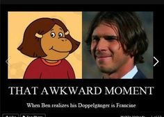 He does look like her!
