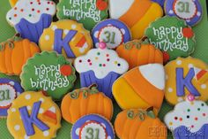 Halloween Birthday Cookies Create. Bake. Love.: Happy Birthday Kristen!