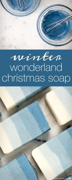 How to make Winter Wonderland Christmas Soap