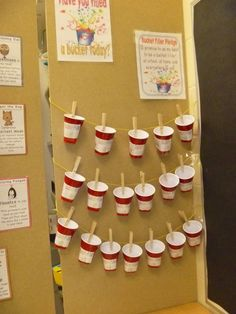 Bucket Fillers.  Love the idea of using SOLO cups instead of buckets...way cheaper