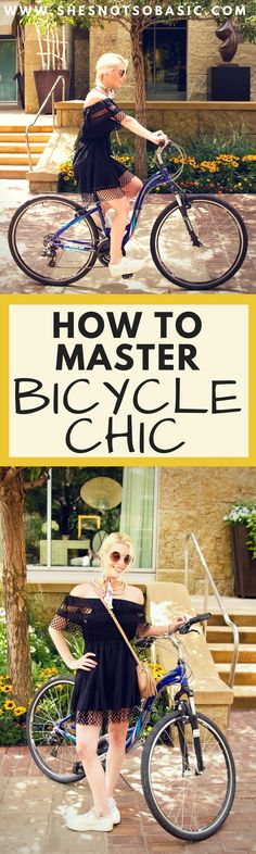 There's an art to mastering bicycle chic. Your outfit needs to be both #cute and #functional. See my 3 easy steps to mastering bicycle chic! | Bicycle Chic, cycle chic, fashion advice, bike outfit, bike outfit womens, cute workout outfits, what to wear bike, what to wear bike riding, bike riding outfit, bike outfits, athleisure, #fashionadvice