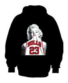 Marilyn Monroe Micheal Jordan Hoodie *Plush
