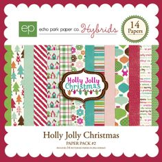 Have a Holly Jolly Christmas make it even brighter with this adorable collection. This kit comes with 14 gorgeous patterned papers.