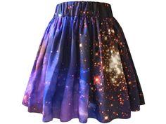 Starburst Galaxy Skirt Organic Cotton Galaxy by Shadowplaynyc, $138.00