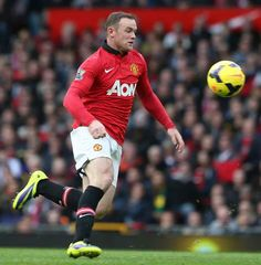 Nucleus- Wayne Rooney is the center midfield position for Manchester United. On a soccer team, the center midfielder is in control of the team, similar to a nucleus in a cell.