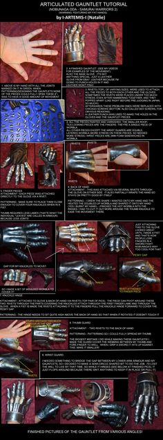 """i-artemis-i: """" tutorial-thing on how I made articulated gauntlets for my Nobunaga Oda costume (samurai Warriors 2) I'm much better at updating my facebook page :D (also yes it contains typos. turns out i am NOT the god of paint. far from it) """""""