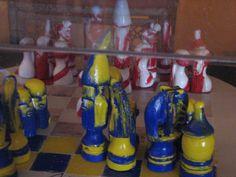 Perez Celis Gift.  River and Boca Soccer Teams