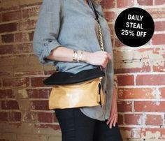 Foldover Crossbody Bag