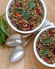 Roast Capsicum, Olive & Quinoa pies
