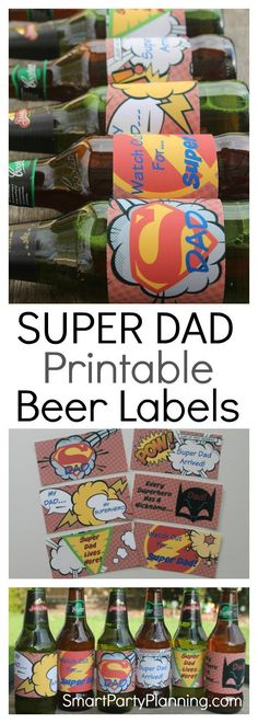 For dad's that love their beer, a pack of beer covered with superhero printables is going to be an awesome gift. Whether you are looking for Father's day or birthday gift ideas, this one will be a fa