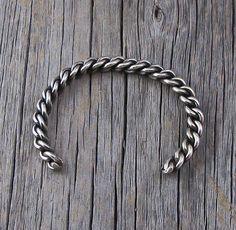 Navajo Heavy Gauge Silver Rope Cuff Bracelet, Navajo Bracelet, Cuff Bracelet, Rope Cuff Bracelet, Sterling Silver Bracelet,Handmade Bracelet