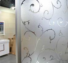 Sans colle de l'électricité statique polis vignes fleur classique couleur fenêtre salle de film de verre de bureau kitchenwindow width60 / 45 cm * 100 cm(China (Mainland))