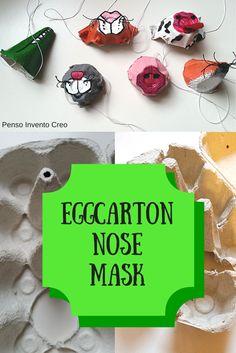 #eggcarton #mask #halloween #tutorial  fare delle #maschere con il cartone delle uova, un'idea per la festa di #Carnevale