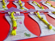 A Happy Mum | Singapore Parenting Blog: It's a TANGLED party - DIY Rapunzel Tower birthday invitation