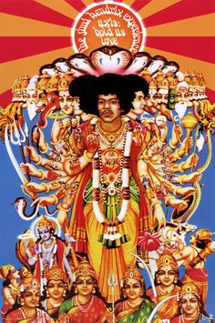 Jimi Hendrix - Axis Bold as Love  The graphic device of radiating lines as a central focus of attention.
