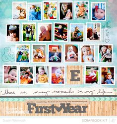 First Year Highlights...Tiny pics (1.25x1.75 inches) printed 6 per 4x6 print, then trimmed leaving a white border - Susan Weinroth