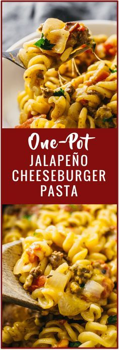 Satisfy your burger cravings with this jalapeño cheeseburger pasta. It's a one-pan pasta recipe that includes jalapeños, ground beef, onion, garlic, and cheese.