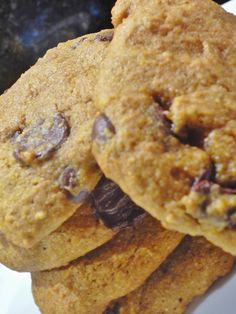Pumpkin Chocolate Chip Cookies | My Clean Kitchen  These are so good! We added raisins too!