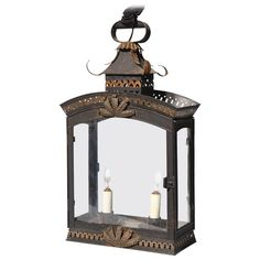 Charming Two-Light Tole Painted and Gilded Lantern Modern Lanterns, Antique Lanterns, Victorian Wall Lighting, Chandeliers, Garden Lanterns, Wall Lights, Ceiling Lights, Contemporary Lamps, Lamp Light
