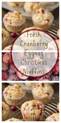 Wonderful Free Fresh Cranberry Eggnog Christmas Muffins - Super Healthy Kids Popular The very best immediately vacation retreat in the Pacific Northwest is The Lights of Xmas in Stanwo Muffin Recipes, Baking Recipes, Dessert Recipes, Breakfast Recipes, Breakfast Ideas, Cookie Recipes, Morning Glory Muffins, Christmas Desserts, Christmas Baking