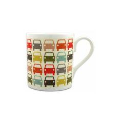 Orla Kiely Mugs, Multi Car (OK41)