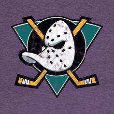 Shop Mighty Ducks Logo mighty ducks t-shirts designed by tvshirts as well as other mighty ducks merchandise at TeePublic. D2 The Mighty Ducks, Duck Tattoos, Duck Wallpaper, Ducks Hockey, Duck Logo, Nhl Logos, Cartoon Stickers, Anaheim Ducks, Disney Sketches