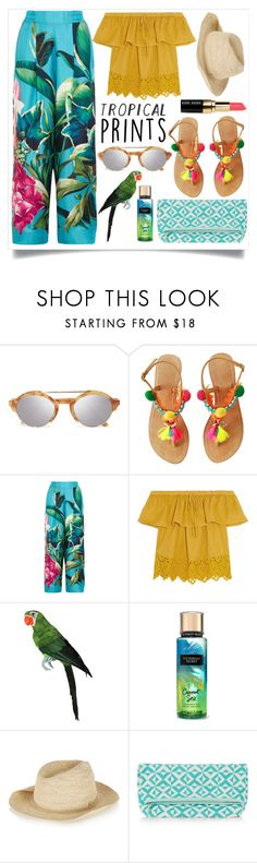 """""""Tropical Prints"""" by alaria ❤ liked on Polyvore featuring Illesteva, F.R.S. For Restless Sleepers, Madewell, Sensi Studio, Sophie Anderson, Bobbi Brown Cosmetics, tropicalprints and hottropics"""