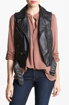 BB Dakota Faux Leather Vest available at #Nordstrom