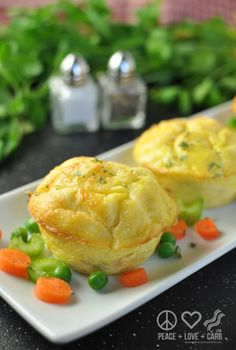 Chicken Pot Pie Egg Muffins - Low Carb, Gluten Free | Peace Love and Low Carb